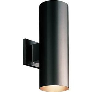 Progress Lighting Cylinder 14 in. 75W 2-Light Outdoor Wall Lantern PP5675