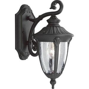 Progress Lighting Meridian 60W 1-Light Medium Lantern in Black PP582031