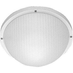 Progress Lighting Bulkheads 4-3/4 in. Medium E-26 Base Wall Sconce in White PP570230