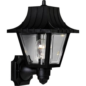 Progress Lighting Mansard 8-1/4 in. 60 W 1-Light Medium Wall Lantern in Black PP581431