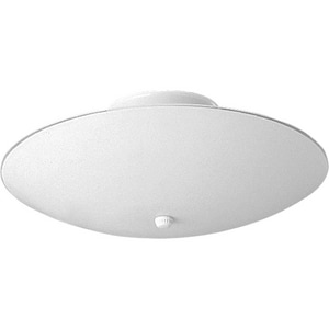 Progress Lighting 60 W 3-Light Medium Semi Semi-Flush Mount Close-to-Ceiling Fixture in White PP461030