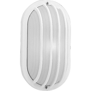 Progress Lighting 5-7/8 in. 60W 1-Light Wall Lantern in White PP570530