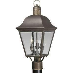 Progress Lighting Andover 60 W 3-Light Candelabra Post Lantern PP5487