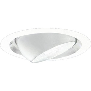Progress Lighting 7-3/4 in. Eyeball Recessed Trim in White PP667629
