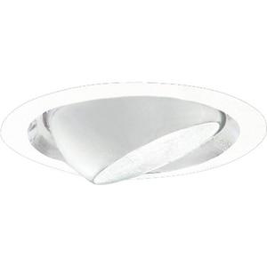Progress Lighting Recessed 7-3/4 in. Eyeball Recessed Trim in White PP667629