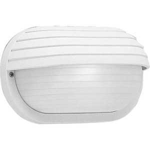 Progress Lighting Bulkheads 5-7/8 in. 60W 1-Light Wall Lantern in White PP570630