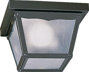 Quorum International 60 W 1-Light Medium Semi-Flush Mount Ceiling Fixture in Black Q3080715