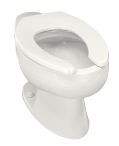 Kohler Wellcomme™ Elongated Floor Mount Toilet Bowl with Rear Inlet K4349