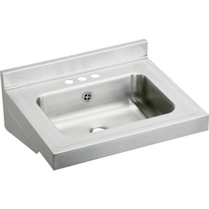 Elkay Stainless Steel Wall Mount Rectangle Lavatory Sink EELVWO2219