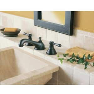 Moen Kingsley™ 1.5 gpm 3-Hole Widespread Bathroom Faucet with Double Lever Handle MT6105