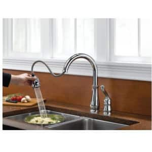 Delta Faucet Leland® 1.8 gpm Single-Handle Deckmount Kitchen Sink Faucet 360 Degree Swivel Pull-Down Spout 3/8 in. OD Connection D978DST