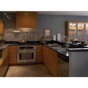 Brizo Venuto® 1.8 gpm Single Lever Handle Deckmount Kitchen Sink Faucet 360 Degree Swivel Pull-Down Spout 3/8 in. Compression Connection D63070LF