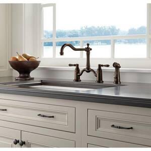 Brizo Tresa® 1.8 gpm 3-Hole Double Lever Handle Kitchen Faucet D62536LF