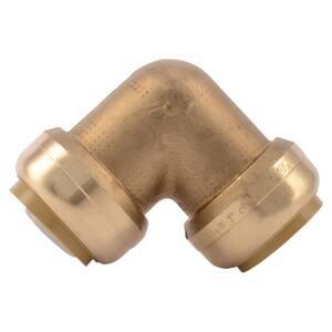 Sharkbite 1 in. Push Brass Standard Radius Barbed 90 Degree Elbow SU260LF