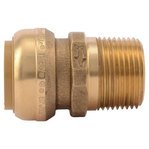 Sharkbite 1 in. Push x MNPT Brass Adapter SU140LF