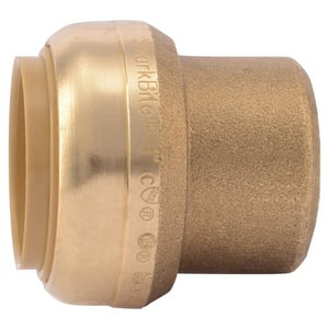 Sharkbite 1 in. Push Brass Cap SU520LF