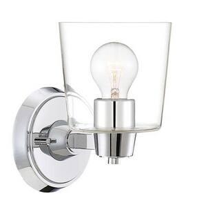Park Harbor® Windsor Gate 5-3/8 in. 100W 1-Light Medium E-26 Bath Light with Seeded Glass PHVL3001