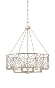 Park Harbor® Lake Forest 60W 4-Light Pendant in Antique Silver Leaf PHPL6268ASL