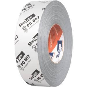 Shurtape PC 857 2 in. x 60 yd. Metallic Silver Waterproof Cloth Duct Tape SPC857K60MT