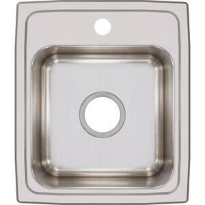 Elkay Gourmet® 15 x 17-1/2 in. Single Bowl Stainless Steel Sink in Lustrous Highlighted Satin ELR1517