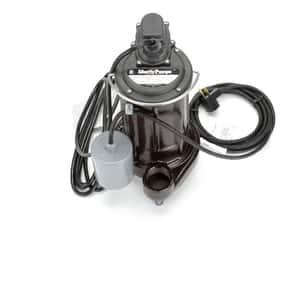 Liberty Pumps 280 Series 1/2 HP Automatic Effluent Pump Wide-Angle Piggyback Float Switch 115V L283