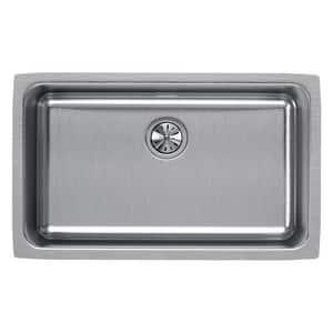 Elkay Gourmet® 28 x 16 x 10 in. Single Bowl Undercounter Sink in Lustrous Satin EELUH281610