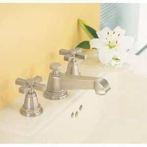 Kohler Pinstripe® 3-Hole Deckmount Widespread Lavatory Faucet with Double Cross Handle and 1-3/8 in. Spout Height K13132-3A