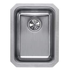 Elkay Harmony™ 14 x 18-1/2 x 7-1/8 in. Single Bowl Undermount Sink Lustrous Highlighted Satin EELUH1116