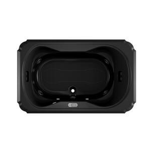Jacuzzi Bellavista™ 59-3/4 x 59-3/4 in. 10-Jet Acrylic Corner Drop-In Whirlpool Bathtub with Center Drain and J4 Luxury Control JBEL6060WCR4IW
