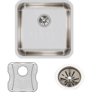 Elkay Gourmet® 1-Bowl Undermount Sink Kit in Lustrous Highlighted Satin EELUH1616DBG