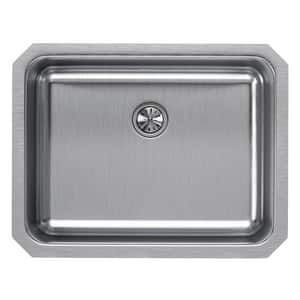 Elkay Gourmet® 1-Bowl Undermount Kitchen Sink with Rear Center Drain in Lustrous Highlighted Satin EELUH2115PD