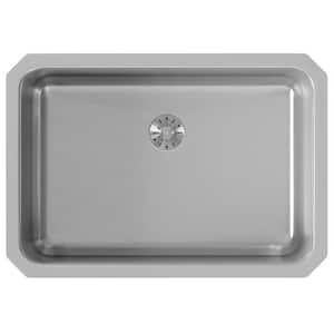 Elkay Gourmet® 1-Bowl Undermount Kitchen Sink with Rear Center Drain in Lustrous Highlighted Satin EELUH2416PD