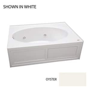 Jacuzzi Nova™ 60 x 42 in. Acrylic Rectangle Skirted Whirlpool Bathtub with Left Drain and J2 Basic Control JNVS6042WLR2XX