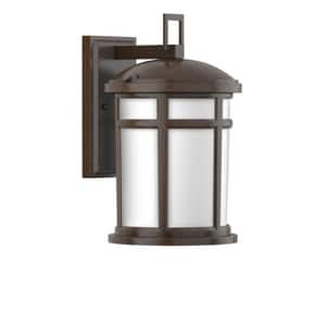 Park Harbor® Turnberry 100W 16-5/8 in. 1-Light Medium E-26 Wall Sconce in Speckled Bronze PHEL2302SPBR
