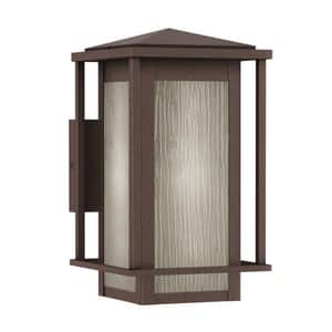 Park Harbor® Beech Lane 100W 15 in. 1-Light Medium E-26 Wall Sconce in Brownstone PHEL1702BROW