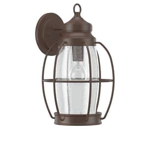 Park Harbor® West Rock 100W 15-1/2 in. 1-Light Medium E-26 Wall Sconce in Chocolate Bronze PHEL2902CHBR