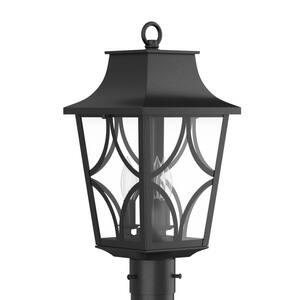 Park Harbor® Altimeter 19-7/8 in. 60W 3-Light Candelabra E-12 Post Lantern in Black PHEL1403BLK