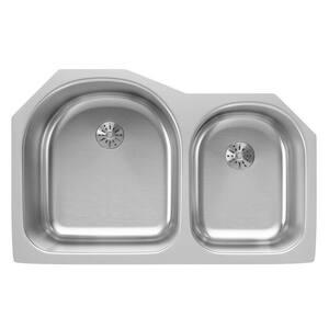 Elkay 2-Bowl Undermount Kitchen Sink Kit in Lustertone EELUH311910RPD
