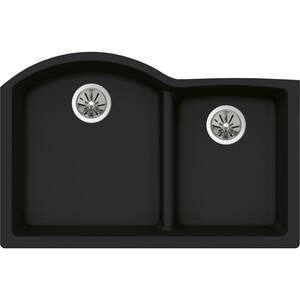 Elkay Quartz Luxe 2-Bowl Undermount Kitchen Sink (Less Hole) EELXHU3322R0