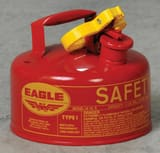 Eagle Type I 1 gal Gasoline Safety Can with Funnel in Red EUI10FS at Pollardwater
