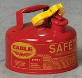 Eagle Type I 1 gal Gasoline Safety Can with Funnel in Red EUI10FS
