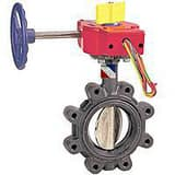 NIBCO 12 in. 250 psi Ductile Iron Lug Butterfly Valve Gear Operator Switch NLD3510812