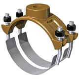 Smith Blair Inc 3 x 3/4 in. CC Ductile Iron and Stainless Steel Double Strap Saddle S31700035406000