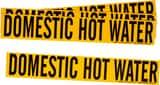 Brady Worldwide 2-1/4 x 14 in. Vinyl Domestic Hot Water Pipe Marker in Black|Yellow B70871