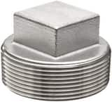 1 in. 1000# Threaded 304L Stainless Steel BS Square Plug IS4BSTSP1MSP114G