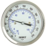 H.O. Trerice 1/2 x 3 x 2-1/2 in. NPT 20 to 240 Degree F 300 Stainless Steel Bimetallic Actuated Thermometer TB8320205