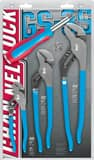 Channellock Permalock 4-Piece Plier Set With 6 In 1 Screwdriver CGS3S