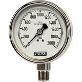 WIKA Bourdon 2-1/2 in. -30 hg 0 psi 1/4 in. MNPT Dry Pressure Gauge Lead Free W9744827 at Pollardwater