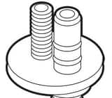 Moen Monticello® Lavatory Spout Widespread Shank O-Ring Kit for Moen 84240, T4570, T4570BN, T4570P M103466