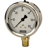 WIKA Bourdon 4 in. Standard Pressure Gauge W96990 at Pollardwater